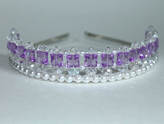 Pretty Purple Princess Tiara, Princess Tiara, Flower Girl Tiara, Birthday Tiara