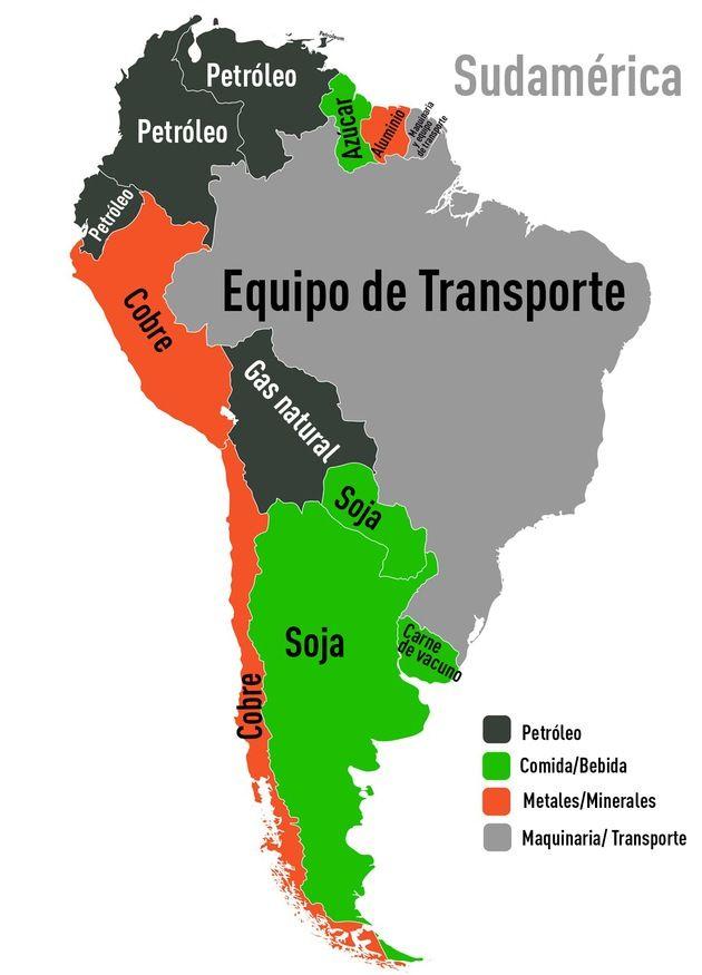 Un mapamundi muestra qué productos son los más exportados en cada país – RT