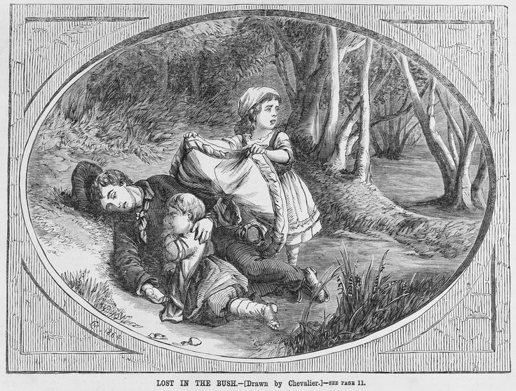 Lost in the bush / drawn by Nicholas Chevalier engraved by Samuel Calvert