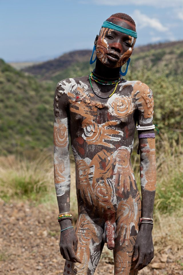 Mursi man, Omo valley, Ethiopia.