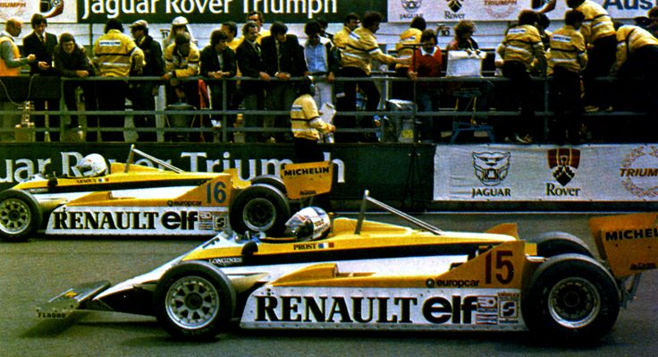 1981 Prost y Arnoux Renault Turbo RE20