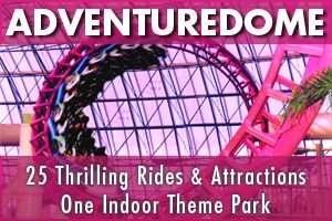 Adventure Dome at Circus Circus, Mandalay Bay and going to buffets and shows with the kids!
