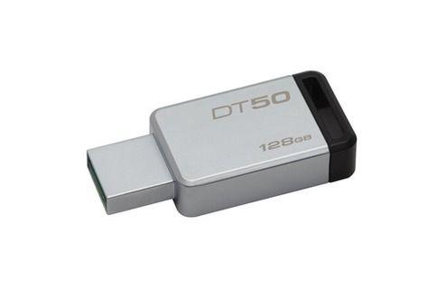 Clé USB Kingston Technology DataTraveler 50 128GB 128Go USB 3.0 (3.1 Gen 1) Type A Noir, Argent lecteur USB flash