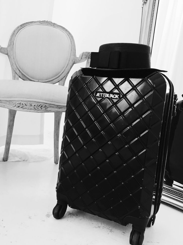 Check Black Carry On Suitcase by JETT BLACK__ #BlackandWhite #AirportLife #Jetsetter