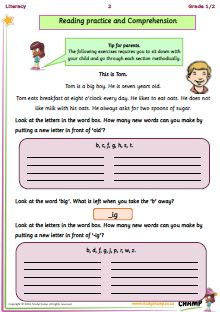 Comprehension workbooks for Grade 1 and 2 learners, focusing on phonics.