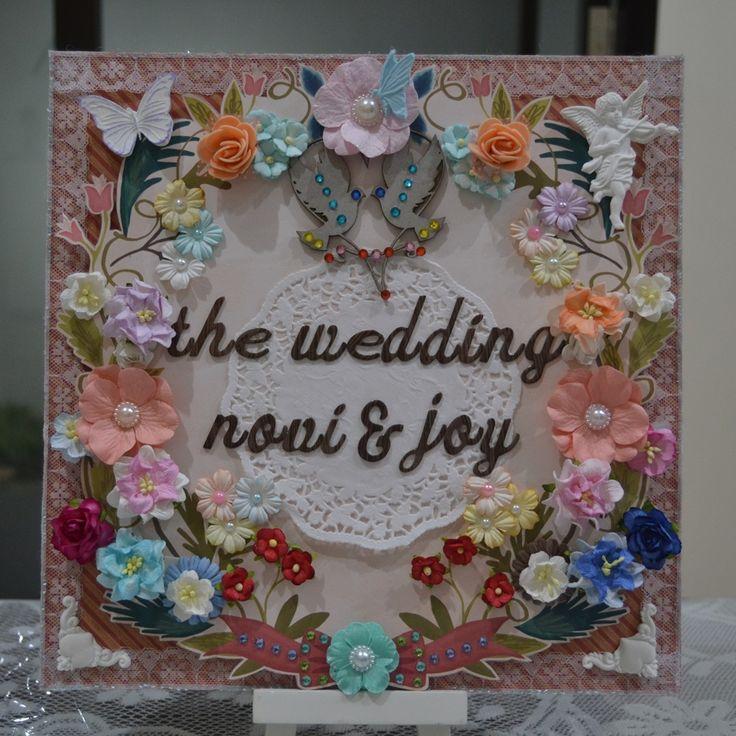 30x30cm wedding scrapbook for my cousin