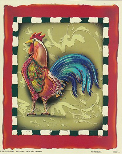 Complement your country kitchen decor with this amazing chicken rooster still life animal art print poster. This contemporary style rooster poster is sure to brighten up your space with its refreshing colors and classic look. It will be a perfect for a country kitchen. It would also make a fabulous gift for any chicken collector. Hurry up! Buy this beautiful piece of art for its durable quality with high degree of color accuracy which ensures protect your image for years to come.