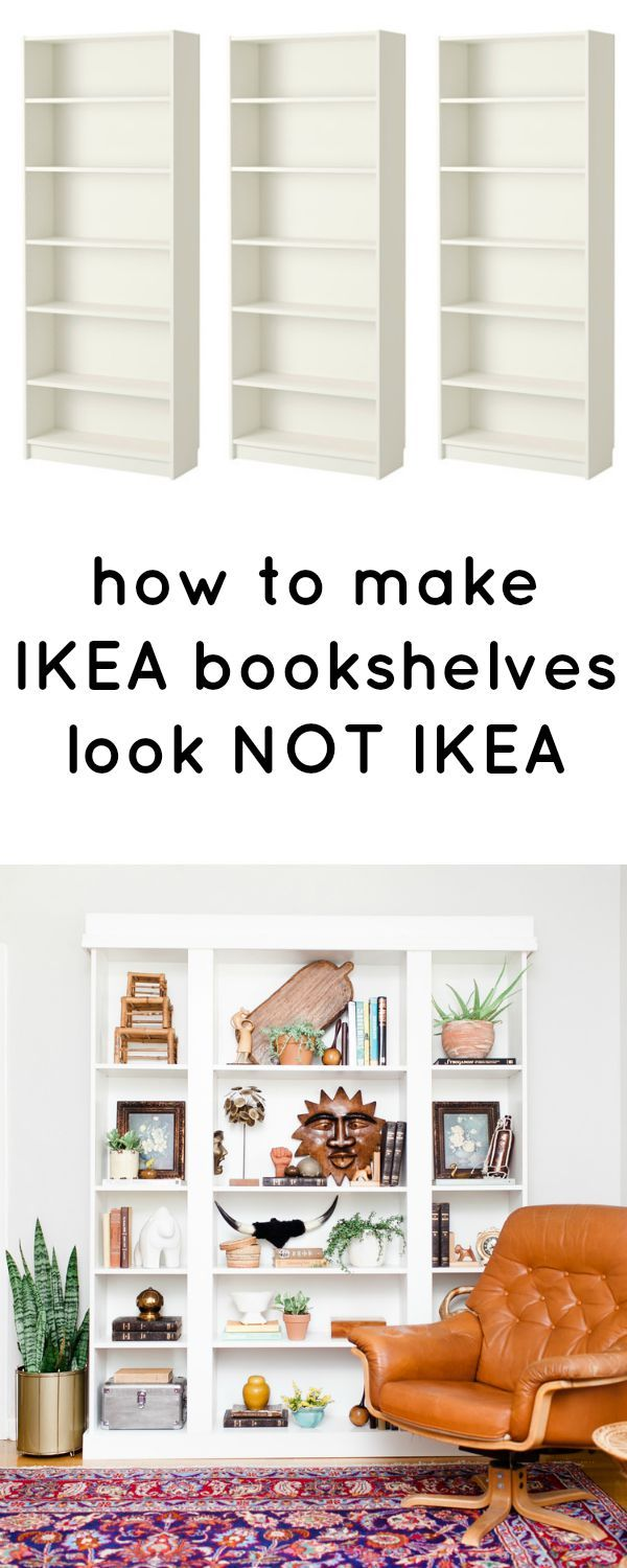 How To Make IKEA Bookcases Look Not IKEA, love this ikea hack