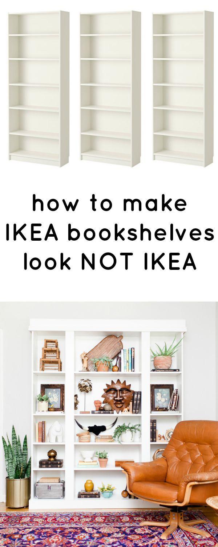 how to make ikea bookshelves look not ikea