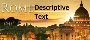 contoh descriptive text tempat kota roma