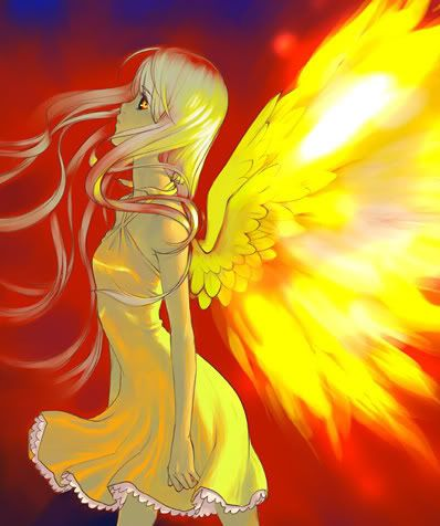 Anime Fire Angel | Angels | Pinterest | Anime, Medium and ...