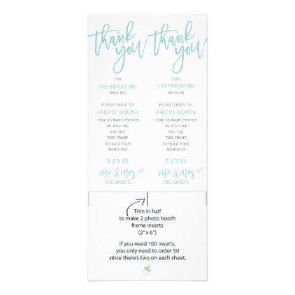 Photo Booth Frame Inserts Brush Light Turquoise Rack Card Photo