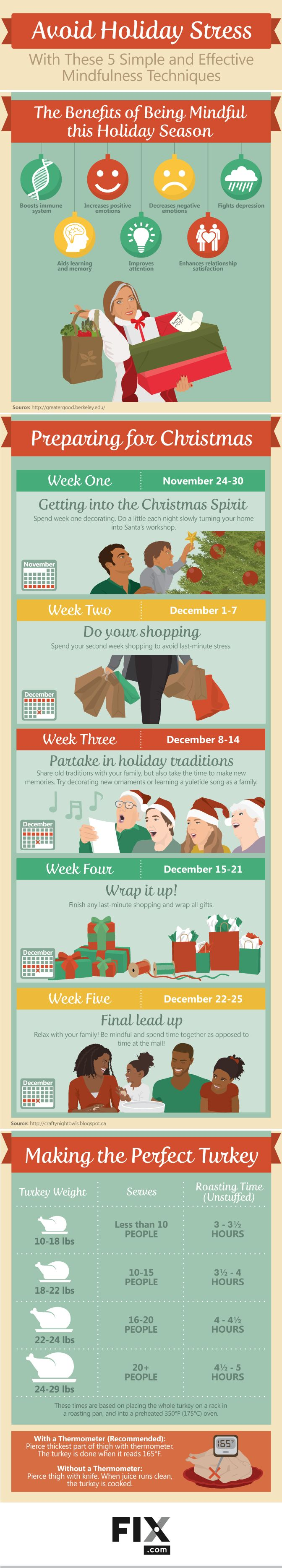 Avoid Holiday Stress: 5 Simple and Effective Mindfulness Techniques #Infographic…