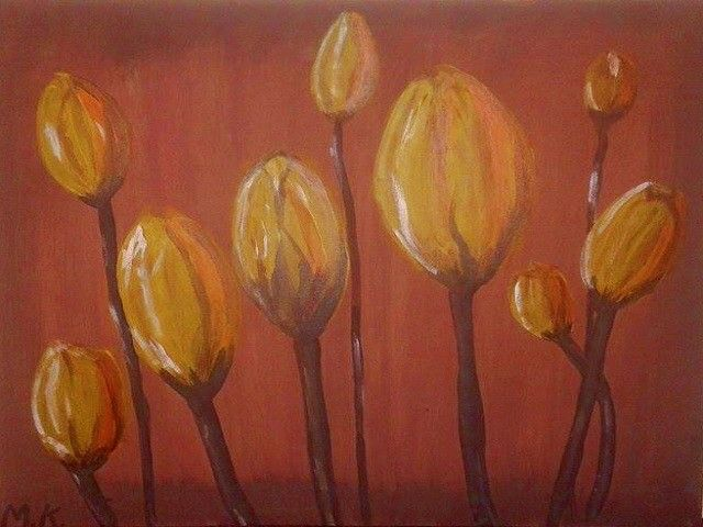 Tulips by MK Art. $320 as advertised on https://saffersmall.com