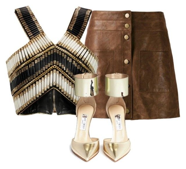 Untitled #11 by traversrt on Polyvore featuring polyvore, fashion, style, Balmain, Veronica Beard and Jimmy Choo