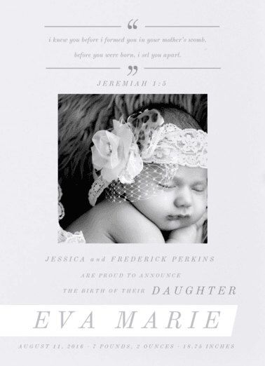 Love's Promise Ribbon Birth Announcement. Baby. Design Fee by PartyGlamourShopBaby on Etsy https://www.etsy.com/listing/262626948/loves-promise-ribbon-birth-announcement