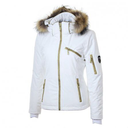 Skea Gili Insulated Ski Jacket (Women's) - White/Bamboo Gold