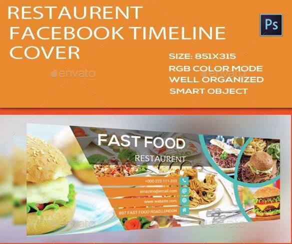 Обложка для Facebook – Restaurant