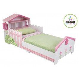 Het Kidkraft kleuterbed poppenhuis zorgt voor een vlotte overgang van een ledikant naar een echt bed. Het bed is laag genoeg zodat kinderen er makkelijk in en uit kunnen stappen. Het bed heeft aan het hoofdeind handige opbergruimte, in de vorm van poppenhuis. De ramen aan de zijkant van dit poppenhuis kunnen open en dicht.