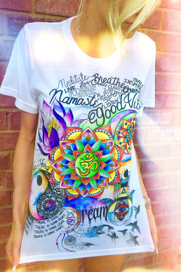 Good Vibes Crew... Vibrant Art including the Hamsa, Om symbol, Zen balance, Lotus, and Positive quotes. The perfect way to express your positivity. Life changing hand drawn art by the infamous Emily D