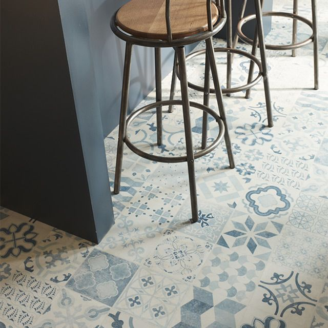 1000 id es sur le th me carreaux de vinyle sur pinterest - Revetement sol pvc imitation carrelage ...