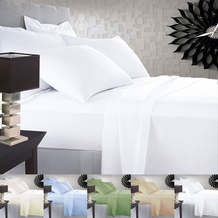 1500 THREAD COUNT SOLID BEDDING COLLECTION 4PC BED SET- 21 COLORS AND ALL SIZES! #Scala