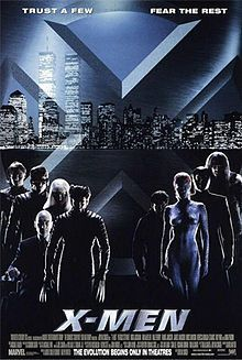 X-Men is a 2000 American superhero film based on the Marvel Comics superhero team of the same name, distributed by 20th Century Fox. It is the first installment in the X-Men film series. The film directed by Bryan Singer and written by David Hayter features an ensemble cast that includes Patrick Stewart, Hugh Jackman, Ian McKellen, Halle Berry, Famke Janssen, James Marsden, Rebecca Romijn, Bruce Davison, Ray Park, Tyler Mane and Anna Paquin.