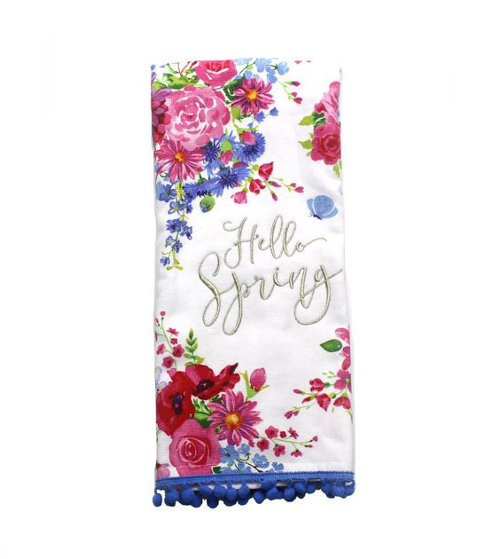 Wild Blooms French Terry Towel-Hello Spring Floral