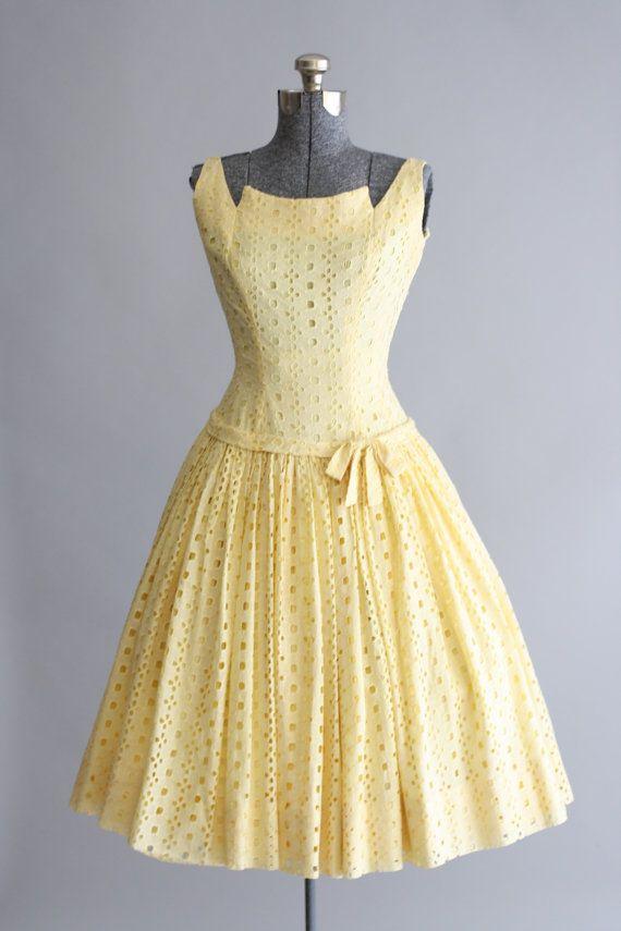 Vintage 1950s Dress / Gigi Young / Medium