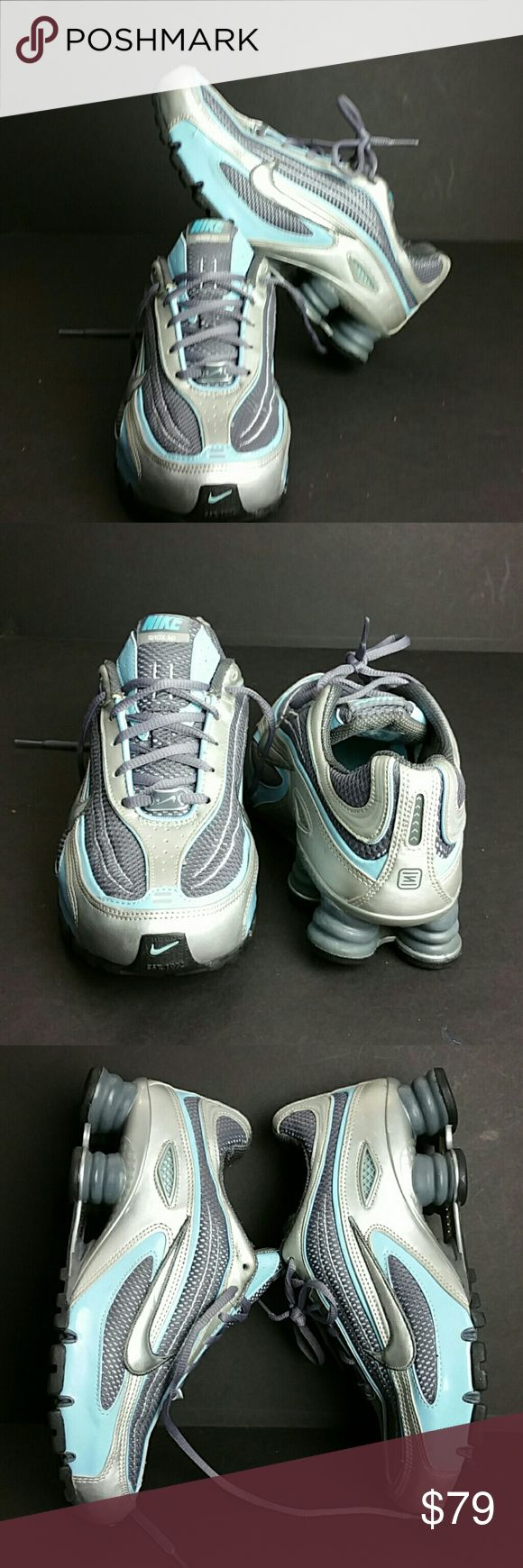 NIKE SHOX WOMEN SHOES VERY CLEAN INSIDE-OUT   SKE # KU5 NIKE Shoes Athletic Shoes