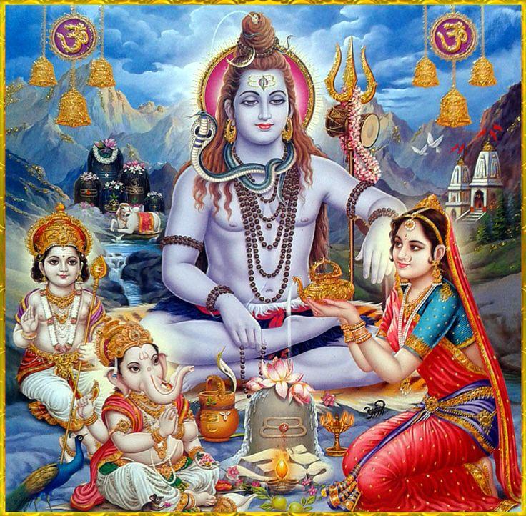 """shivaom: """" ✨ OM NAMAH SHIVAYA ✨ """" The Divine Family"""