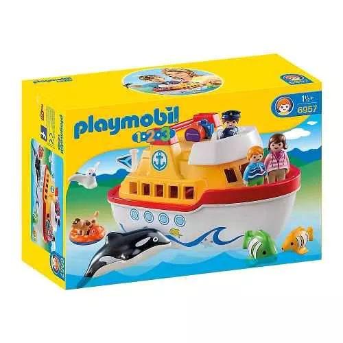 Playmobil 1 2 3 - 6957 Barco Maletin Bunny Toys - $ 2.349,99