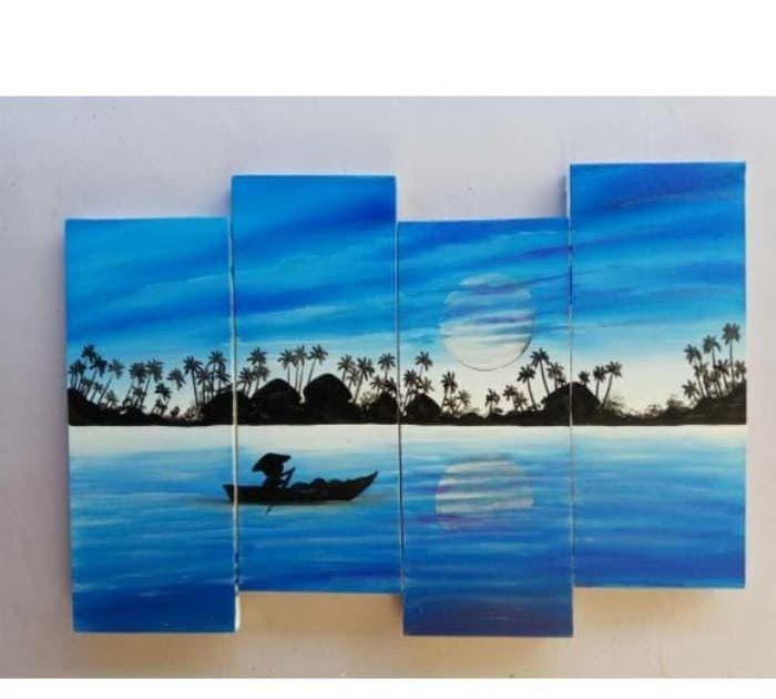 30 Contoh Lukisan Siluet Pemandangan Contoh Lukisan Simple Dan Mudah Itulah 15 Contoh Sketsa Gambar Pemandangan Dari Pensil Ya Pemandangan Painting Lukisan