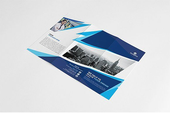 Corporate Tri-fold Brochure by GreenPixi on @creativemarket