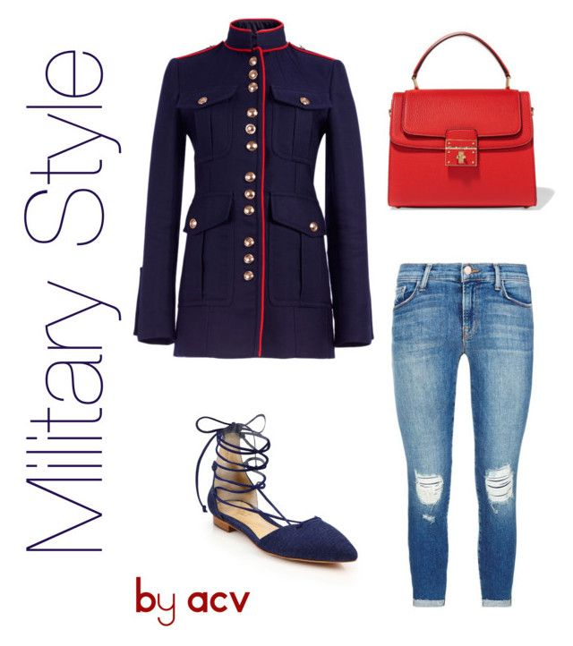"""Militar y Style"" by amparo-calbacho on Polyvore featuring moda, Burberry, J Brand, Schutz y Dolce&Gabbana"
