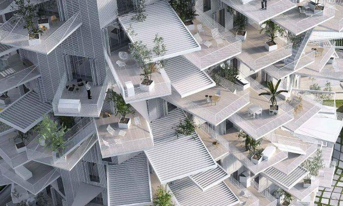 L'Arbre Blanc, nom d'une nouvelle tour à Montpellier (Logements, restaurant, galerie d'art, bureaux, bar panoramique, espace partagé)