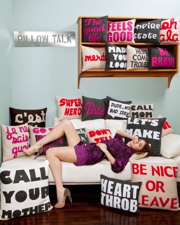 Alexandra Ferguson pillows #SanAntonioTidbits