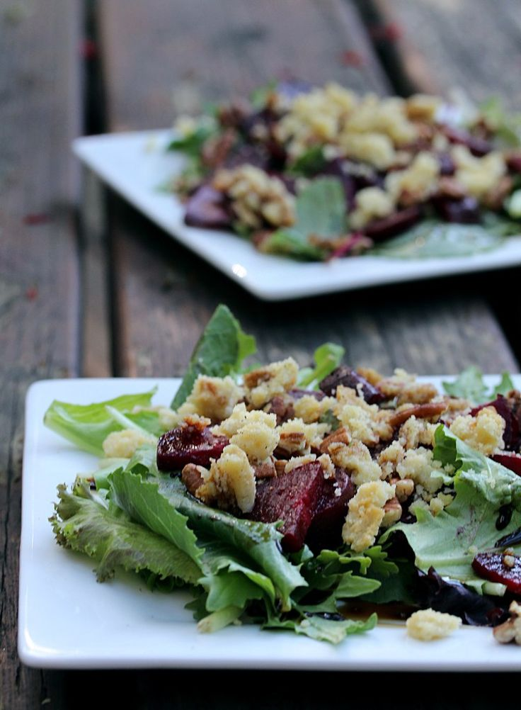 Roasted Beet Salad w/Almond Feta