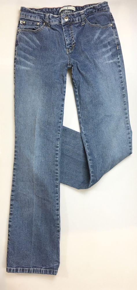 9c4ef416 TOMMY HILFIGER Slim Boot Cut Jeans Size 6 / Cotton Denim Pants # TommyHilfiger #SlimBootCut