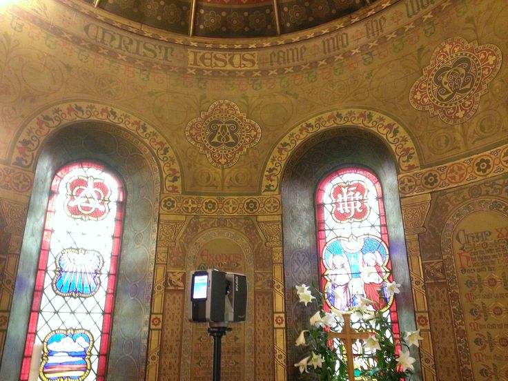Laser scan of a Church altar in High Lane with the Faro Focus 3D