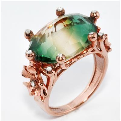 elmas ve strin yüzük ---- rose cut diamond and citrine ring