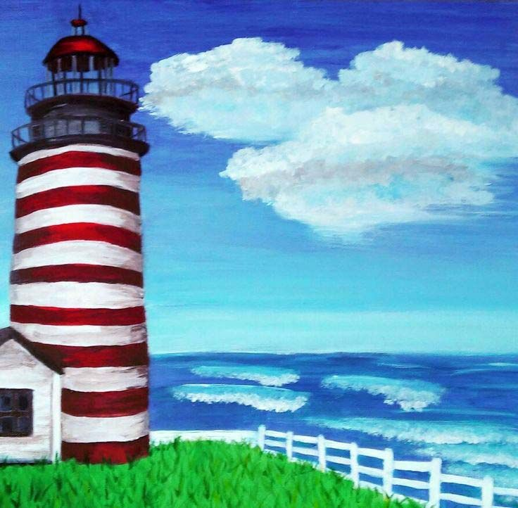 Lighthouse. Acrylic.