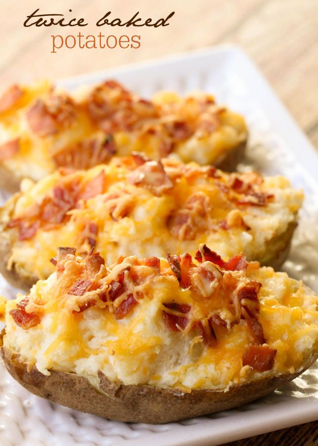 One of the best and easiest side dishes - Twice Baked Potatoes. Loaded with bacon & cheese!