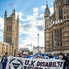Disabled People Against Cuts Protest in London