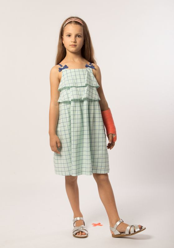 Headband - Twin: Peach Dress - Trapeze: Peppermint