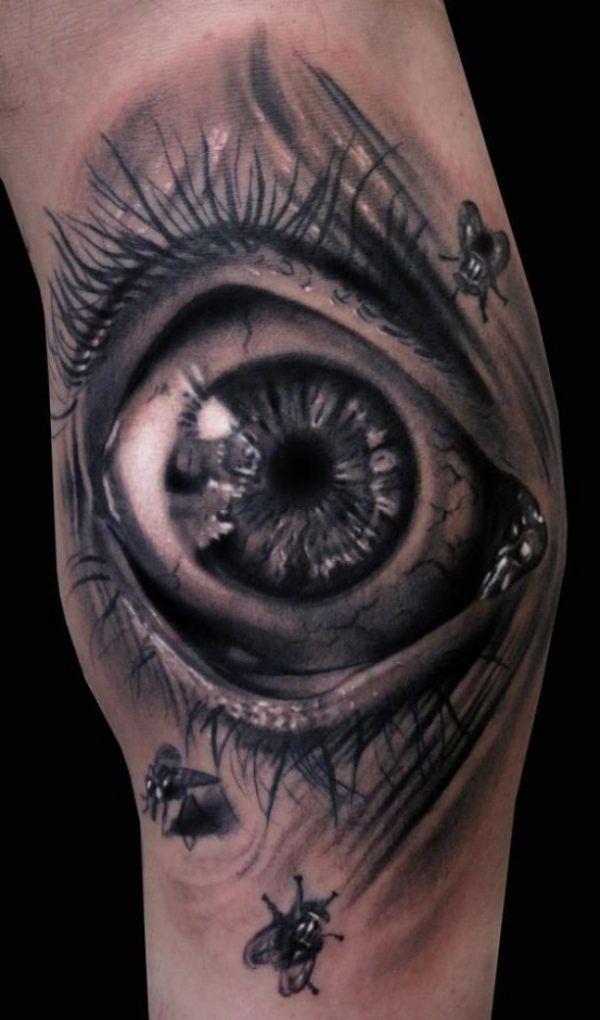 Eye fly 3D Tattoo  - http://tattootodesign.com/eye-fly-3d-tattoo/     #Tattoo, #Tattooed, #Tattoos