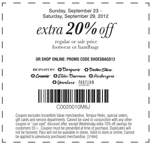 Herbergers: 20% off Printable Coupon