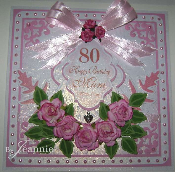 Luxury Handmade Pretty 80th Birthday Card Pinterest 80th
