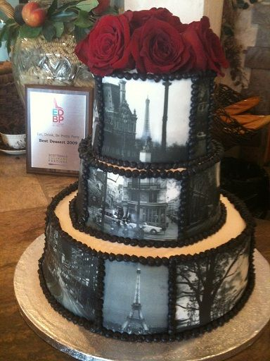 paris photo cake.. I now have the ability to do photo cakes.. Merry Christmas to me (edible ink printer for Christmas) :)