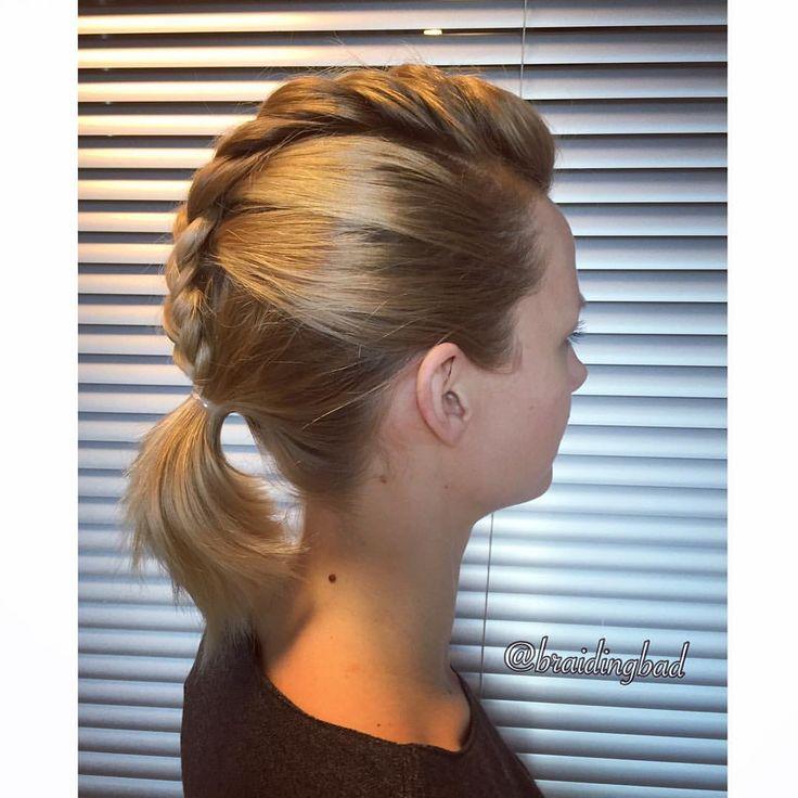 #fauxmohawk of a #frenchbraid on @tiiareeta ✌️#fribraid . . #braid #braiding #braidinghair #braidideas #instabraids #letti #lettikampaus #letitys #hairdo  #hairstyles #plaitedhair #suomiletit #braidsforgirls  #hotbraidsmara  #braidingchallenge #featureaccount_ #braidinginspiration #perfecthairpics #inspirationalbraids #braidingintheoffice